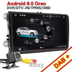 Android 8.0 GPS Autoradio DAB+ For VW PASSAT GOLF MK5 6 TOURAN CADDY JETTA Polo